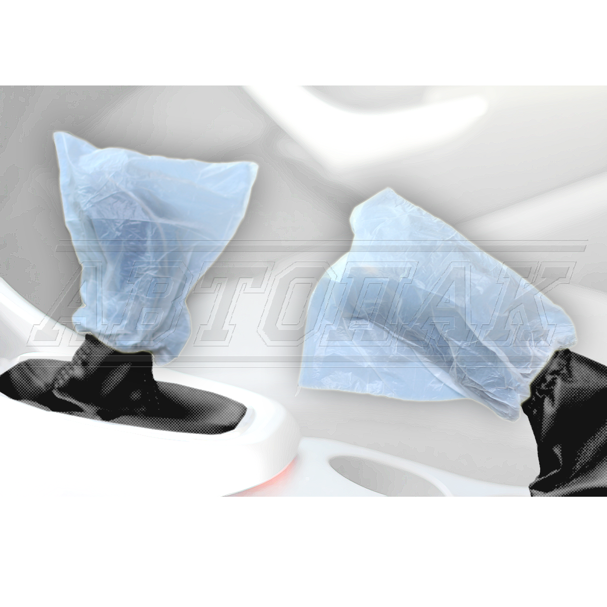 Disposable covers for the gearshift and handbrake