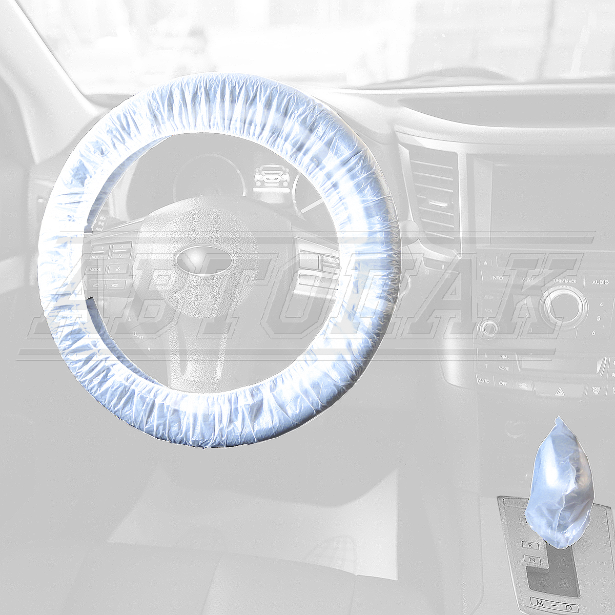 Covers for the steering wheel with the rubber bandi